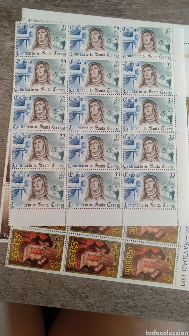 15 SELLOS 33 PTS CENTENARIO SANTA TERESA 1982 (Sellos - Temáticas - Religión)