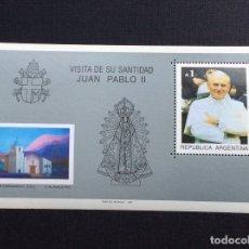 Sellos: ARGENTINA Nº YVERT HB 36*** AÑO 1987. VISITA PAPA JUAN PABLO II. Lote 173677129
