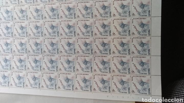 Sellos: Pliego de 100 y de 45 Sellos Visita S.S.El Papa J.PabloII 1982 14pts - Foto 3 - 178865068