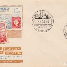 Sellos: AÑO 1955, EXPOSICION DE GRACIA DEDICADA A LAS MISIONES, SOBRE DE ALFIL. Lote 183412793