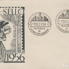 Sellos: EDIFIL 1195, ARCANGEL SAN GABRIEL (FRA ANGELICO), PRIMER DIA DE 12-10-1956, SOBRE DE PANFILATELICAS. Lote 183413093