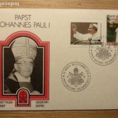 Sellos: SOBRE VATICANO JUAN PABLO I PAPA PAPST JOHANNES PAUL I. Lote 187110193
