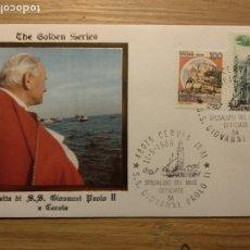 Sellos: SOBRE GOLDEN SERIES VATICANO JUAN PABLO II PAPA PAPST GIOVANNI PAOLO CERVIA SERVIA ARTE BAROCCA CAST. Lote 187110627