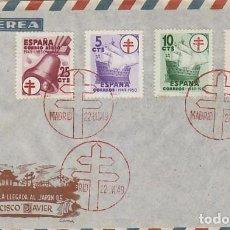 Sellos: AÑO 1949, III CENTº LLEGADA SAN FRANCISCO JAVIER A JAPON , SERIE COMPLETA ANTITUBERCULOSOS EN PRIMER. Lote 189756231