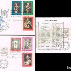 Sellos: VATICANO IVERT Nº 369 Y 370, APERTURA DEL CONCILIO VATICANO II, PRIMER DIA DE 30-10-1962. Lote 191026607