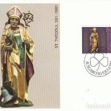 Sellos: LIECHTENSTEIN IVERT 716, 16 CENTENARIO DE SAN TEÓDULO, TARJETA MAXIMA DE 9-6-1981. Lote 191805583