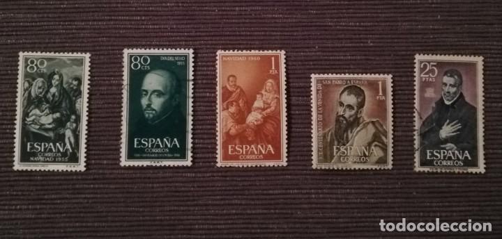 Sellos: Sello Arcángel San Gabriel ,Día del sello 1956. Correos y Otros varios ..Navidad 1955, 1960... - Foto 2 - 192105363