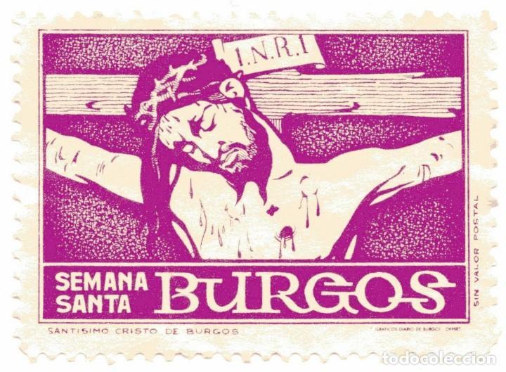 S27A VIÑETA SEMANA SANTA BURGOS (Sellos - Temáticas - Religión)