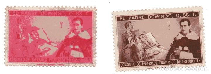 S28C PAREJA VIÑETAS PADRE DOMINGO 0.SS.T (TRINITARIOS) (Sellos - Temáticas - Religión)
