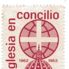 Sellos: S28D VIÑETA LA IGLESIA EN CONCILIO 1962-63 – FOURNIER. Lote 192297610