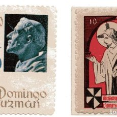 Sellos: S29B LOTE 2 VIÑETAS: VIII CENTENARIO SANTO DOMINGO DE GUZMAN 1970 Y MISIONES DOMINICANAS. Lote 192344525