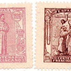 Sellos: S40 SAN FRANCISCO DE ASIS Y VII CENTENARIO FRANCISCANO – LOTE 4 VIÑETAS 1926. Lote 189979553