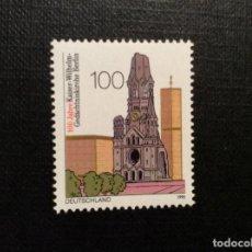 Sellos: ALEMANIA FEDERAL Nº YVERT 1644***AÑO 1995 CENTENARIO IGLESIA EN RECUERDO EMPERADOR GUILLERMO, BERLIN. Lote 193375508