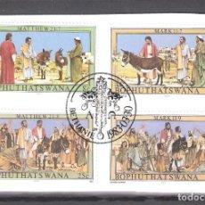 Sellos: BOPHUTHATSWANA (REP. SUDAFRICANA) Nº 104/107º LA PASIÓN DE CRISTO SERIE III. SERIE COMPLETA. Lote 194628750