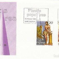 Timbres: EDIFIL 2933, SEMANA SANTA DE VALLADOLID Y MALAGA, PRIMER DIA DE 30-3-1988 SFC. Lote 194860457