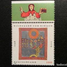 Sellos: ALEMANIA FEDERAL Nº YVERT 1813*** AÑO 1998. 900 ANIVERSARIO NACIMIENTO DE SANTA HILDEGARD DE BINGEN. Lote 195341360