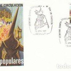 Sellos: EDIFIL 2899, SEMANA SANTA DE SEVILLA, PRIMER DIA ESPECIAL DE SEVILLA DE 13-4-1987 SOBRE DEL SFC. Lote 195488237