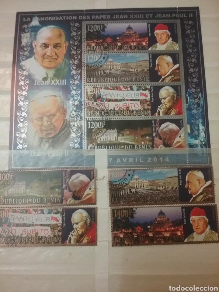SELLOS + HB R. DE BENIN MTDO/2014/RELIGION/PAPAS/CREENCIAS/ARQUITECTURA/CONSTUMBRES/ITALIA (Sellos - Temáticas - Religión)