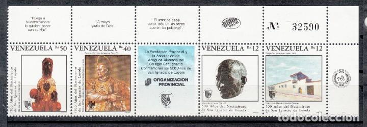 VENEZUELA 1991 - 500 AÑOS DE SAN IGNACIO DE LOYOLA - YVERT Nº 1517/1520** (Sellos - Temáticas - Religión)