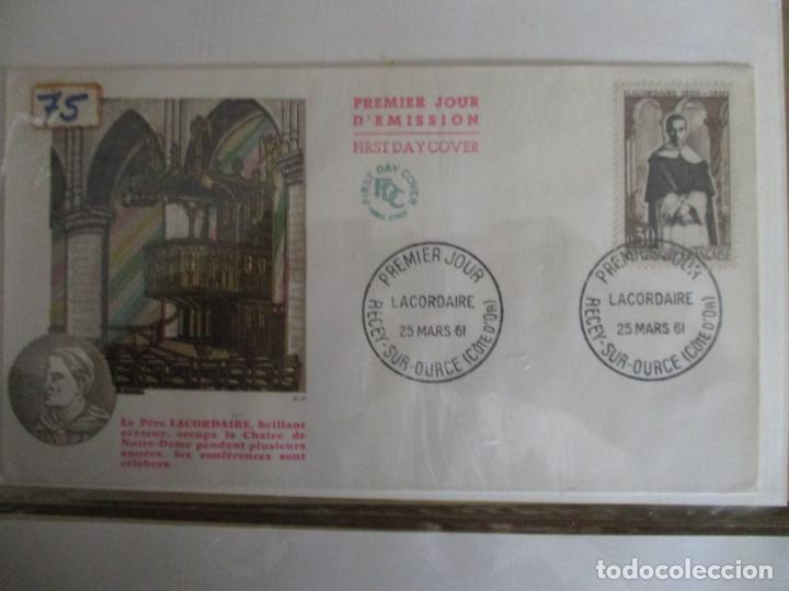 PERE LACORDAIRE 1961 RECEY SUR OURCE COTE D´OR FRANCIA (Sellos - Temáticas - Religión)