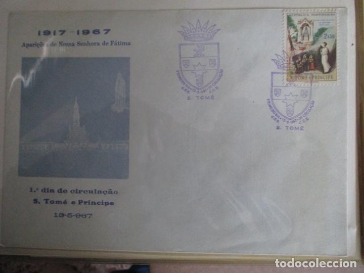 SPD 1967 CINCUENTENARIO APARICIÓN VIRGEN DE FATIMA SANTO TOME Y PUERTO PRINCIPE (Sellos - Temáticas - Religión)