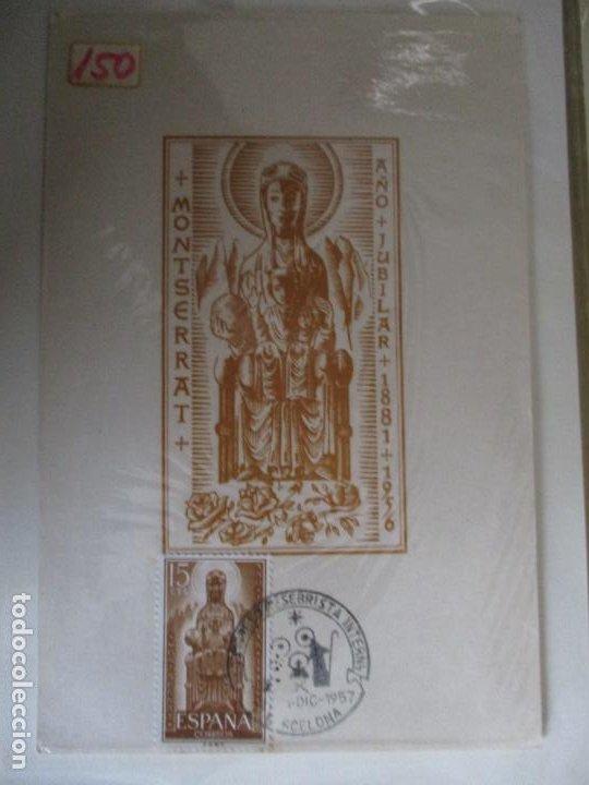 SPD 1957 VIRGEN DE MONTSERRAT CATALUNYA CATALUÑA (Sellos - Temáticas - Religión)