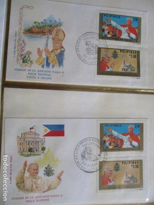 SPD VISITA PAPAL 1981 VIAJE A FILIPINAS JUAN PABLO II (Sellos - Temáticas - Religión)
