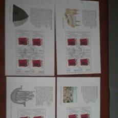 Sellos: HB R. IRLANDA (EIRE) MTDOS/RECUPERADOS/1989/1300 ANIV/MONJES/RELIGION/ARQUITECTURA/BARCO/PAISAJES/CA. Lote 198508106