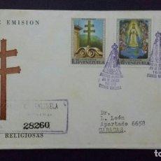 Sellos: SOBRE DE 1970 1A. EMISIÓN.CON SELLOS. IMÁGENES RELIGIOSAS. CORREOS D VENEZUELA. Lote 198548788