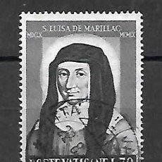 Sellos: SANTA LUISA DE MARILLAC. VATICANO. SELLO AÑO 1968. Lote 198743302