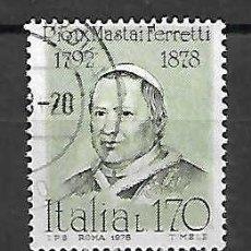 Sellos: PAPA PIO IX. ITALIA. SELLO AÑO 1978. Lote 198744773