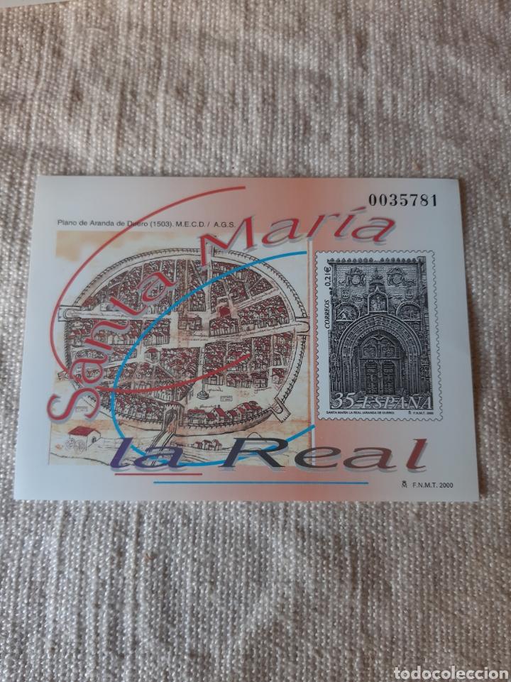 2000 ESPAÑA SANTA MARIA REAL ARANDA DUERO PRUEBA OFICIAL EDIFIL 73 PVP 12 EUROS (Sellos - Temáticas - Religión)