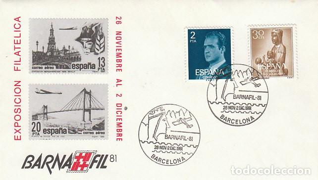 ÑO 1981, VIRGEN DE MONTSERRAT, BARNAFIL, SOBRE OFICIAL (Sellos - Temáticas - Religión)