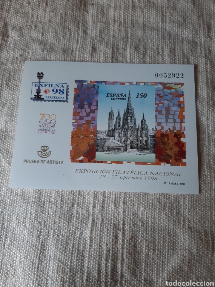 1998 CATEDRAL BARCELONA EXFILMA PRUEBA ARTISTA EDIFIL NÚMERO 66 PVP 12 EUROS (Sellos - Temáticas - Religión)