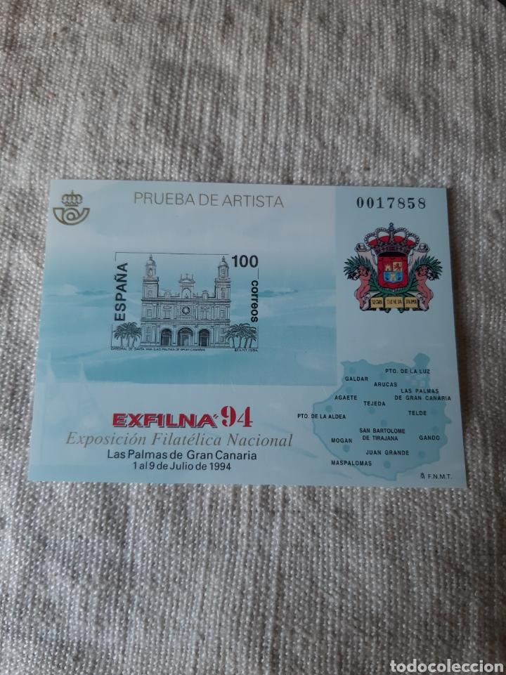 1994 PRUEBA ARTISTA GRAN CANARIA EXFILMA CATEDRAL EDIFIL NÚMERO 33 PVP 15 (Sellos - Temáticas - Religión)