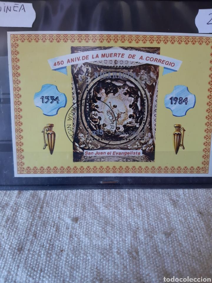 NICARAGUA SAN JUAN EVANGELISTA HOJA BLOQUE USADA 1984 (Sellos - Temáticas - Religión)