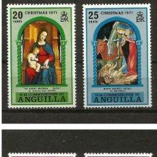 Sellos: ANGUILLA 1971 - NAVIDAD - YVERT Nº 101/104**. Lote 209422356