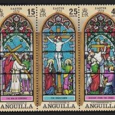 Sellos: ANGUILLA 1972 - PASCUA - YVERT Nº 109/113**. Lote 209422587