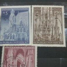 Sellos: SELLOS AUSTRIA (OSTERREICH) MTDOS/1977/ARTE/ARQUITECTURA/IGLESIA/CATEDRAL/SAN/ESTEBAN/RELIGION/. Lote 209877225