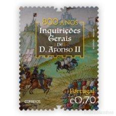 Sellos: PORTUGAL ** & 800 AÑOS DE LAS INVESTIGACIONES GENERALES DE D. AFONSO II 2020 (86429). Lote 210060713