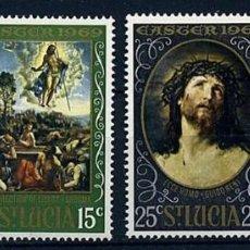 Sellos: SANTA LUCIA 1969 - PASCUA - YVERT Nº 243/246**. Lote 211699266