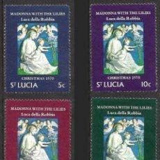 Sellos: SANTA LUCIA 1970 - NAVIDAD - YVERT Nº 284/287**. Lote 211700101