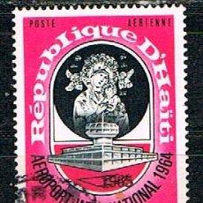 Sellos: HAITI Nº 784, AEROPUERTO DE PUERTO PRÍNCIPE. NUESTRA SEÑORA DEL PERPETUO SOCORRO. AÉREO, USADO. Lote 212775748