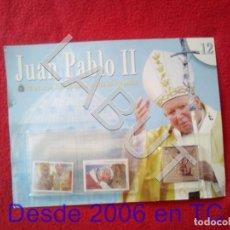 Sellos: JUAN PABLO II 26 AÑOS DE PONTIFICADO A TRAVES DE LOS SELLOS ENTREGA 12 COLECCION 90 GRS U34. Lote 213325551