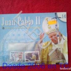 Sellos: JUAN PABLO II 26 AÑOS DE PONTIFICADO A TRAVES DE LOS SELLOS ENTREGA 14 COLECCION 90 GRS U34. Lote 213325590