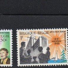 """Sellos: BELGIUM/1966/MNH/SC#660-662/ 75º ANIVERSARIO DE LA ENCICLICA PAPAL POR LEO XII """"RETURN NOVARUM"""". Lote 213389865"""