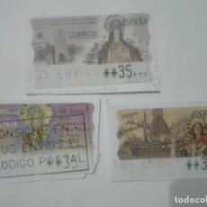Sellos: 4 SELLOS DISTINTOS VIRGEN DEL CARMEN PURISIMA DEL PUERTO DE LOS DOLORES ATM ETIQUETAS FRANQUEO. Lote 213452998