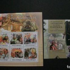 Sellos: /10.08/-MOZAMBIQUE-2011-MINIPLIEGO+BLOQU EN NUEVO(**MNH)-S.S.JUAN PABLO II. Lote 214137913