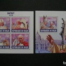 Sellos: /10.08/-NIGER-2013-MINIPLIEGO+BLOQU EN NUEVO(**MNH)-S.S.JUAN PABLO II. Lote 214138010