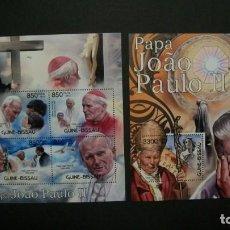 Sellos: /10.08/-GUINEA BISSAU-2012-MINIPLIEGO+BLOQUE EN NUEVO(**MNH)-S.S.JUAN PABLO II. Lote 214138215